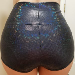 Sparkly Black High Waist